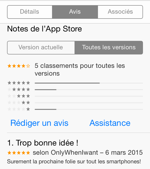 commentaire itunes